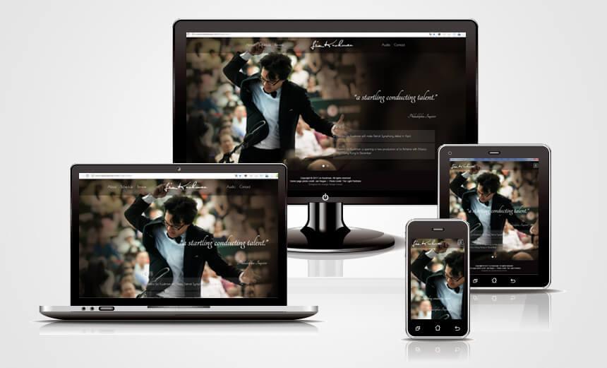 LIO KUOKMAN 音樂藝術家-彰化網頁設計形象網站設計RWD-橙色形象視覺設計
